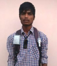 Participant of the CHAI project wearing a wearable camera to study the air pollution in India.