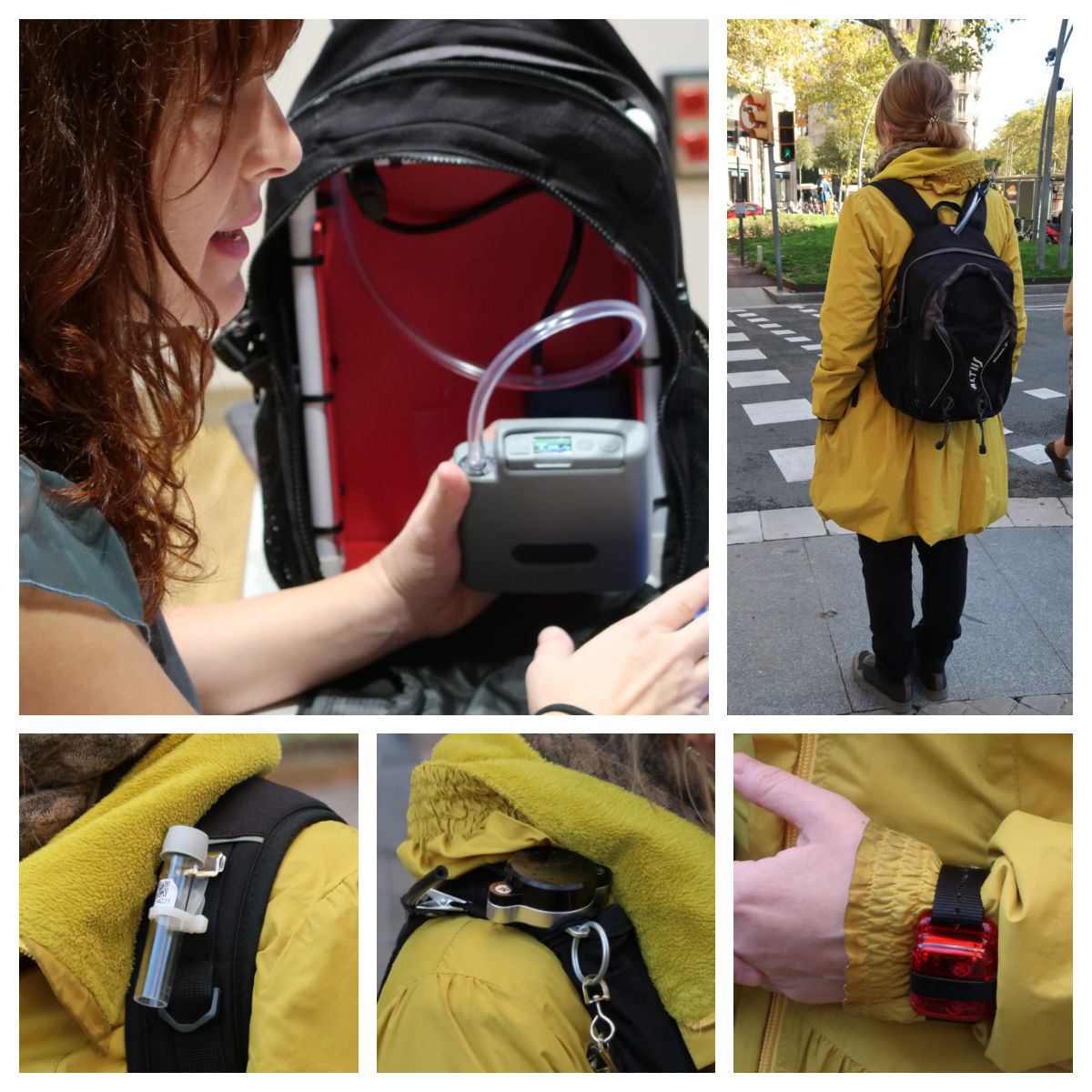Mobile measuring devices to analyse individual exposure to air pollution.
