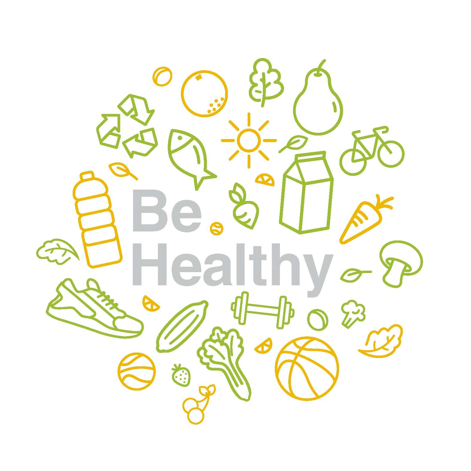 "Logo ""Be Healthy""."