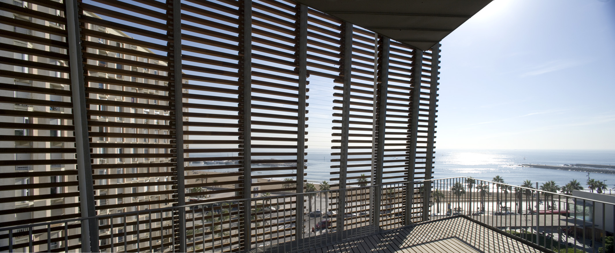 Vista del edificio del PRBB en Barcelona, Ferran Mateo