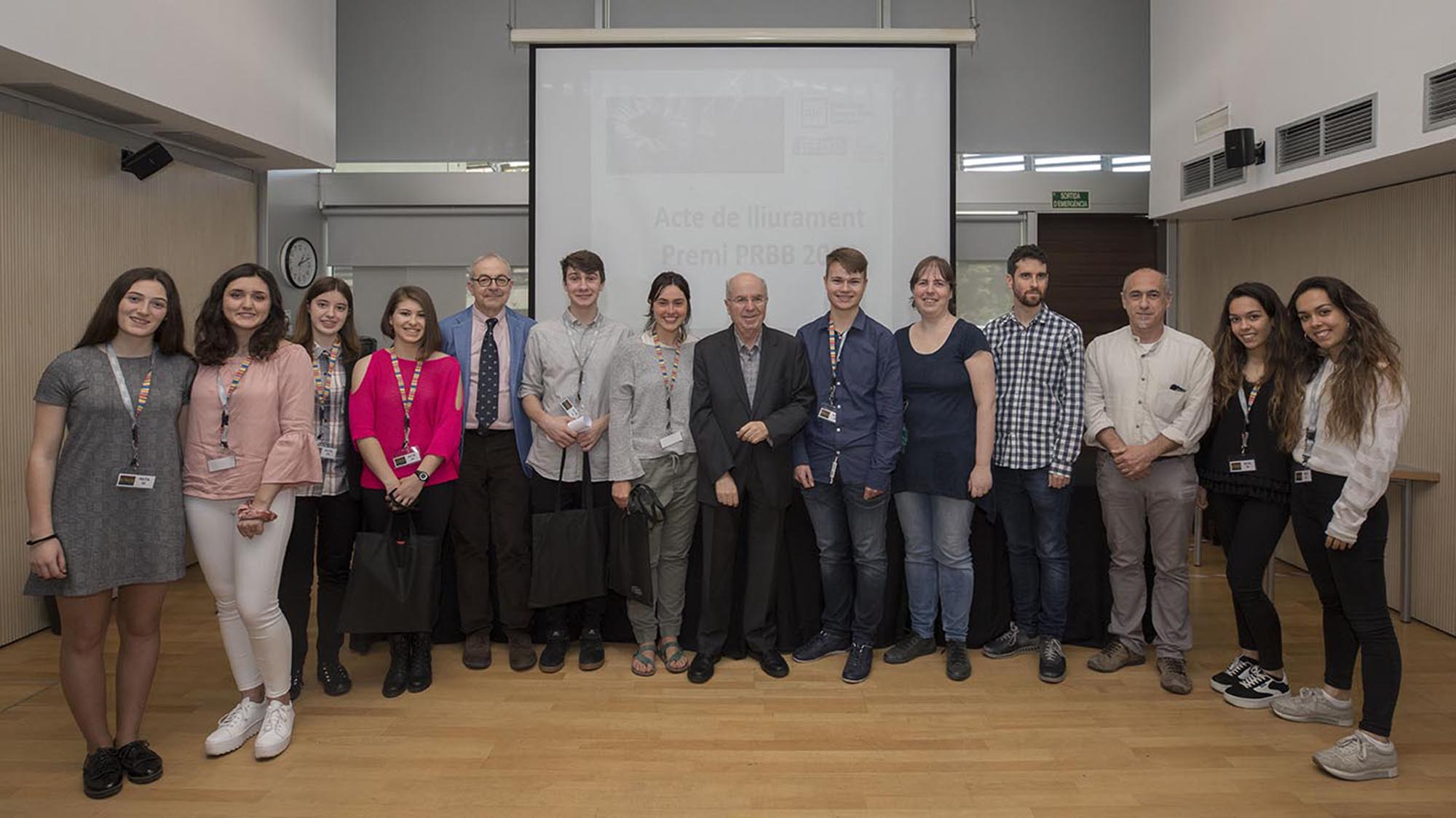 Awardees and jury of the PRBB Prize