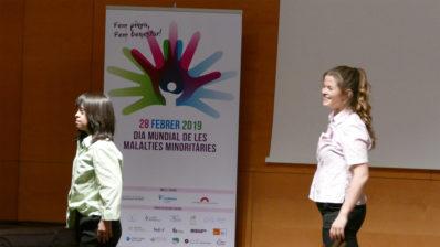 El acto en el auditorio del PRBB para celebrar el Día de las Enfermedades Minoritarias comenzó con un espectáculo de danza inclusiva.