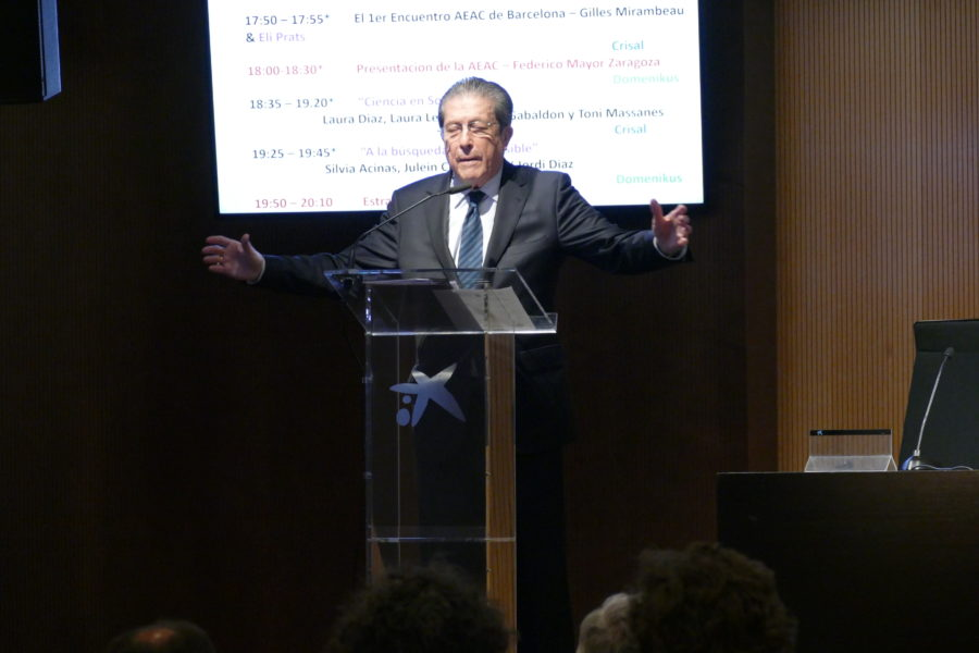 Federico Mayor Zaragoza, presidente de la AEAC