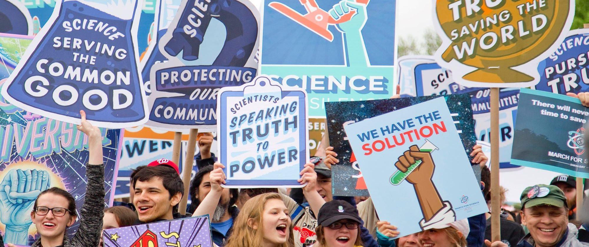 Marcha por la ciencia en Washington DC. Foto de Vlad Tchompalov en Unsplash.