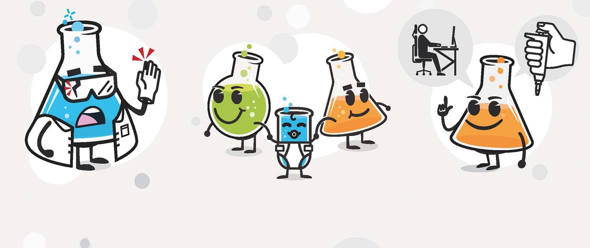 """Ilustraciones de la campaña """"La prevención es cosa de todos. ¡Empieza por ti!"""" (diseñador: Roger Ametller)."""