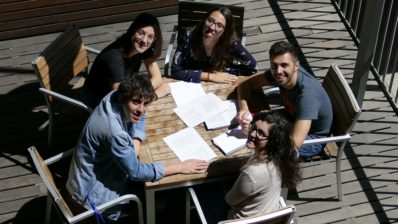 These five young scientists have created the PhD students committee at the IMIM.