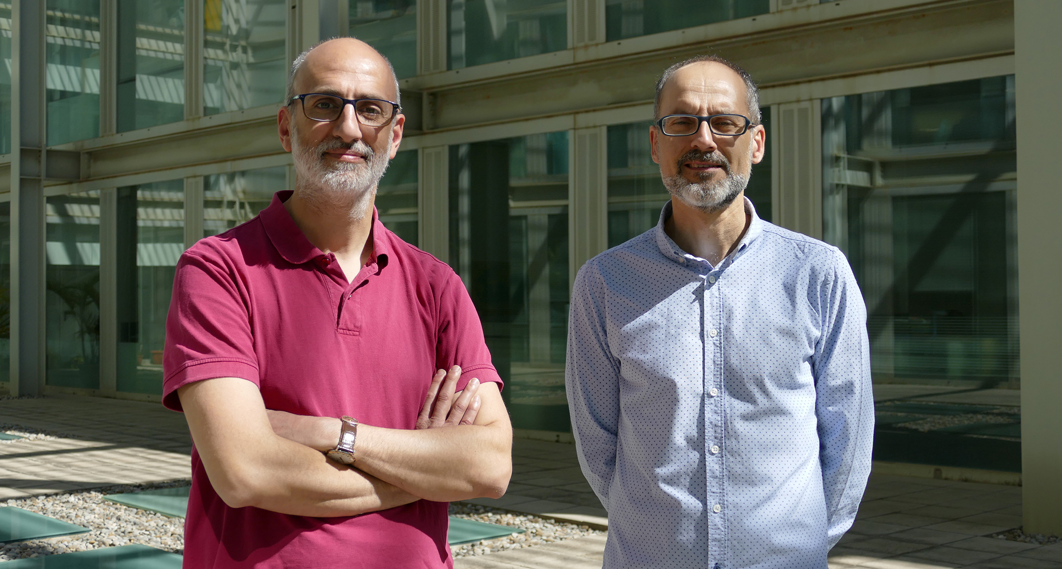 David Martin and Xavier Franch, researchers at the Institute of Evolutionary Biology (IBE).