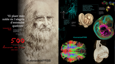 The PRBB centers commemorate the 500th anniversary of the death of Leonardo da Vinci with a visual installation at the Ciutadella/Vila Olímpica subway station.