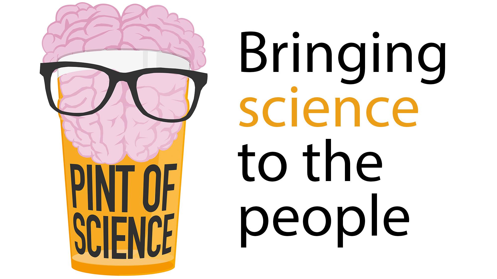"""Més de 80 investigadors - alguns de centres del PRBB - canvien el laboratori pel bar per explicar ciència durant el festival """"Pint of Science"""" a Barcelona."""