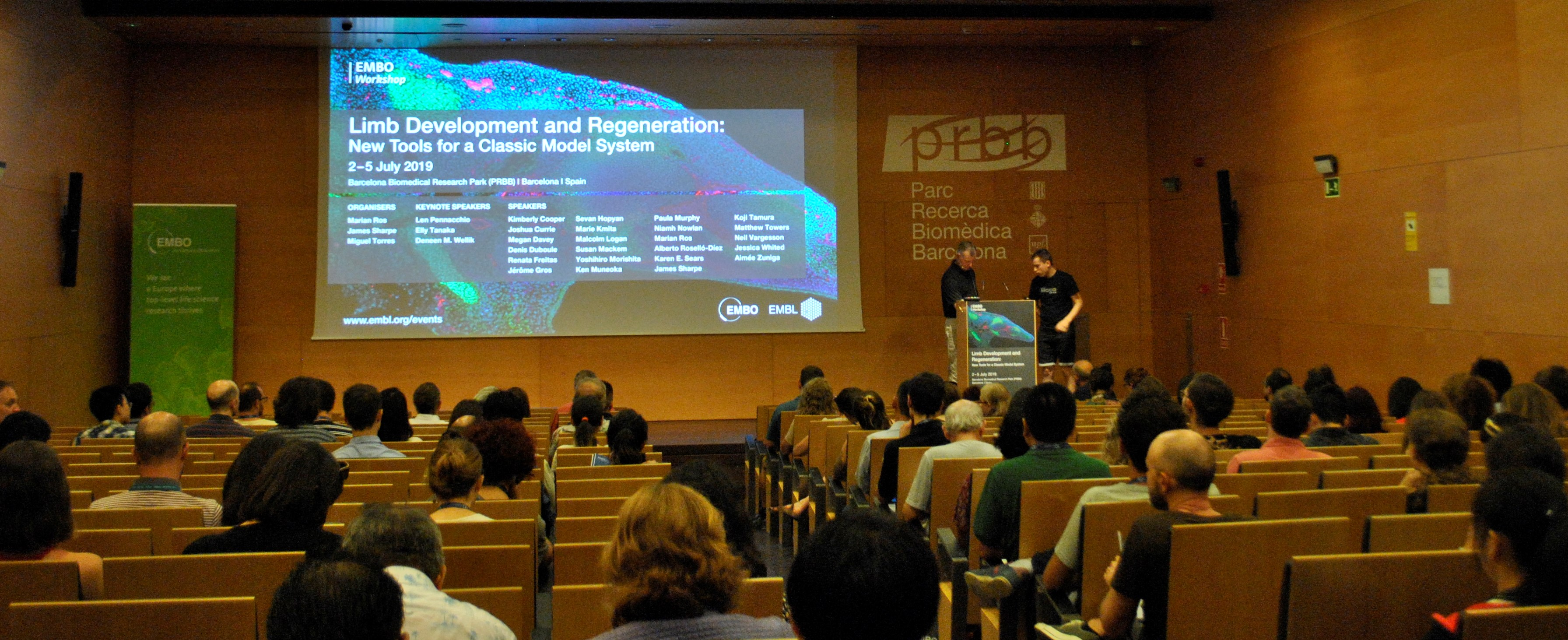 More than 150 researchers met at the PRBB Auditorium for the Limb Development and Regeneration Meeting.