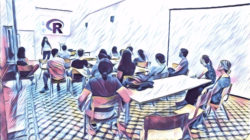 The next Rladies Barcelona meet up (a community of support for women interested in R) will be on October 15 at the PRBB. Image by Mireia Ramos.