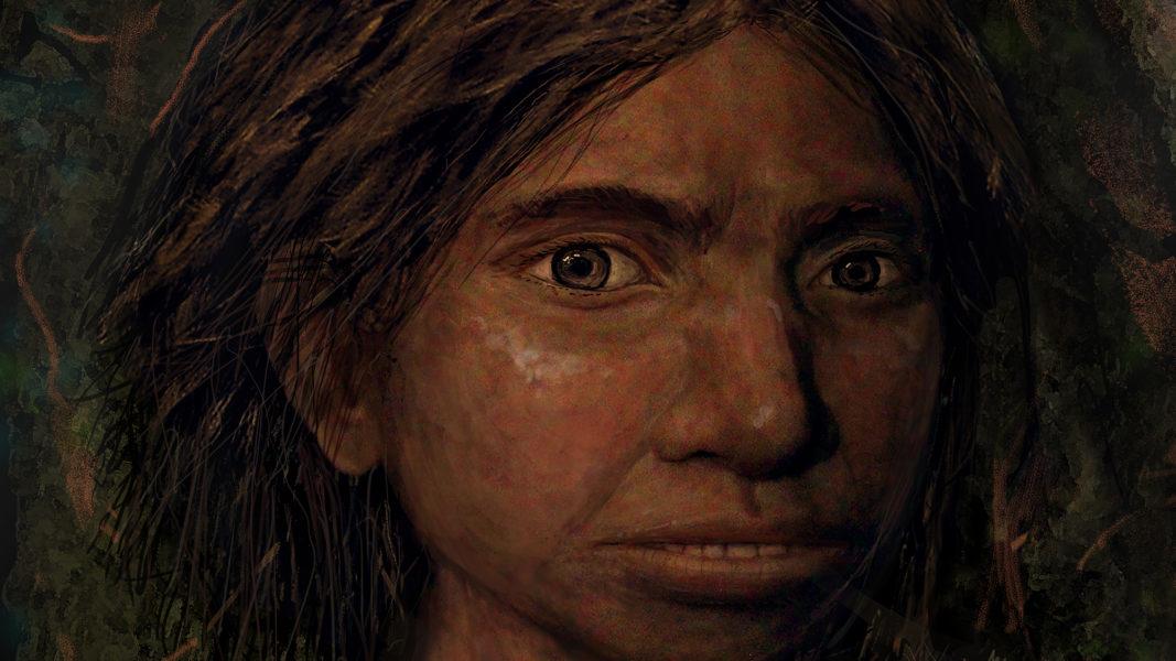 Retrato de una niña denisovana de hace 80.000 años, recreado únicamente a partir de datos moleculares.