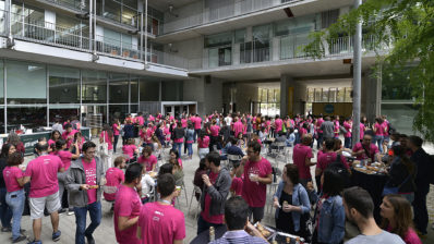 Residents del PRBB al dinar de voluntaris de l'OpenDay 2019.
