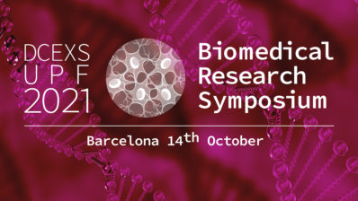 DCEXS-UPF banner for their scientific symposium.