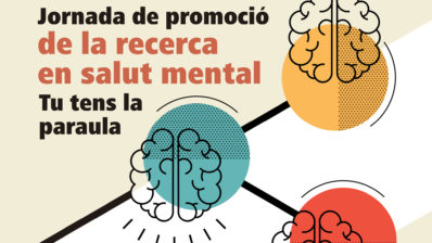 Detail of the poster of the day to promote mental health research. By Hospital del Mar.